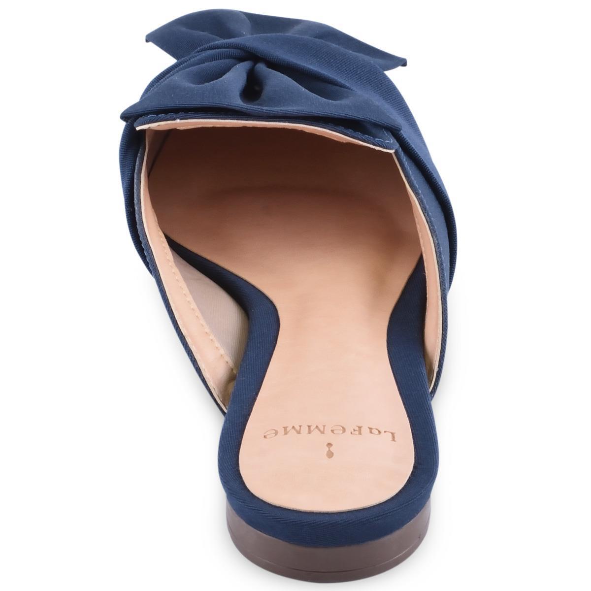 a637cec7b6 Mule La Femme Laço Azul Marinho